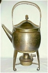 Click here to enlarge image and see more about item T1624: WMF Hot Water Kettle on Stand with Lamp