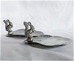 Click here to enlarge image and see more about item T1762: Danish Pewter Nut Dishes