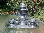 Click here to enlarge image and see more about item T1765: Farberware Chrome Coffee Service