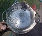Click here to enlarge image and see more about item T1766: Kayserzinn Handled Bowl with Grapes