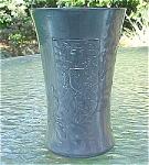 Click here to enlarge image and see more about item T1768: Kayserzinn German Jugenstil Figural Tumbler