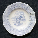 Click to view larger image of Romantic Staffordshire Cup Plate (Image1)