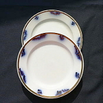 Click here to enlarge image and see more about item T1910: Lustre Band Plates circa 1860