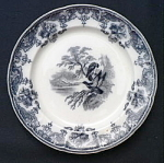 Click here to enlarge image and see more about item T1913: Eagle Plate circa 1850 - #3