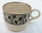 Click here to enlarge image and see more about item T1918: Farmer's Mush Cup - brown/white transfer