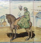 Click to view larger image of Spanish Tile Panel #1 Signed Vicente Flores (Image4)