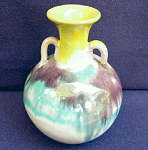 Two Handled Southern Folk Pottery Vase