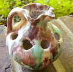 Click to view larger image of Pottery Flower Holder / Pencil Holder (Image1)