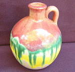 Handled Pottery Jug - Bright Glazes