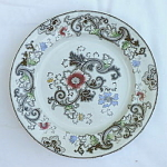 Click here to enlarge image and see more about item T1248: Aurora Polychrome Transferware Plate