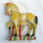 Click to view larger image of Large Carnival Chalkware Horse (Image1)
