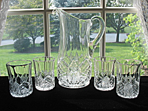 Duncan Antique Eapg King Arthur Pitcher w/ 4 Tumblers (Image1)