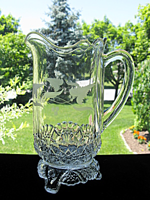 Eapg Antique Etched Jersey/Kitchen StovePitcher (Image1)