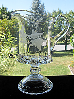 Antique Eapg Apollo Etched Creamer