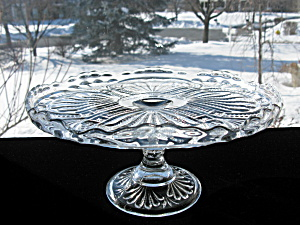 Antique Eapg Glass Pedestal Cake Stand Admiral