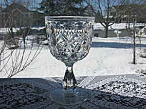 Rare Eapg 19th Century Flint Bakewell Block Goblet (Image1)