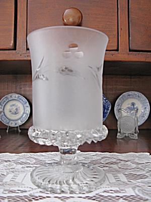 Eapg O'Hara Taunton Frosted & Engraved Celery Vase (Image1)