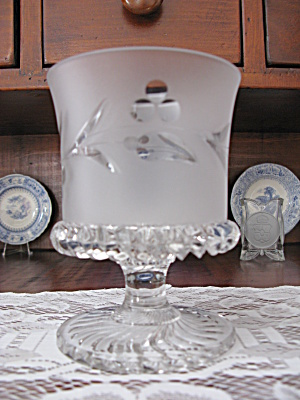 Eapg O'Hara Frosted & Engraved Open Sugar (Image1)