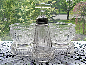 Antique Eapg Wisconsin Rare Condiment Set w/Tray (Image1)