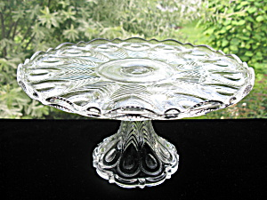 Antique Eapg Georgia/Peacock Feather Cake Stand (Image1)