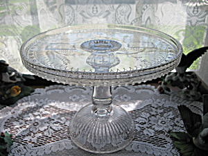 Antique Eapg Good Luck/Horseshoe High Std. Cake Stand (Image1)
