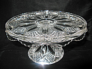 Antique Duncan Ladder w/Diamonds Pattern Cake Stand (Image1)