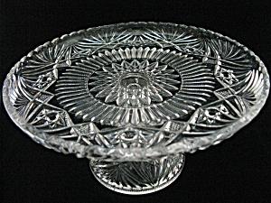 Cambridge Glass Near Cut Cake Stand (Image1)