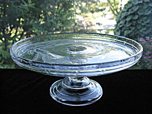 Antique Bryce Sprig Pattern Glass Cake Stand