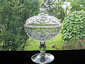 Antique Eapg Washington Centennial Hs Covered Compote