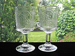 Antique Eapg Canadian Wine Goblets - Pair