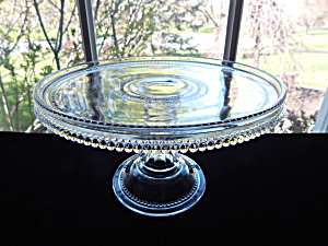 Antique Heisey Sawtooth Bands Cake Stand