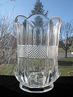 Eapg Banded Portland/Virginia Celery Vase (Image1)