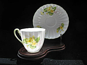 SHELLEY Bone China Demi Tasse Cup & Saucer - PRIMROSE (Image1)