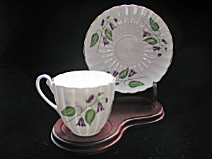 Shelley Bone China Demi Tasse Cup & Saucer - Campanula