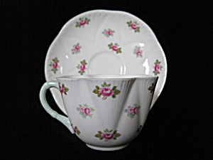 Shelley Fine Bone China Rosebud Cup & Saucer