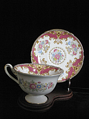 Shelley Fine Bone China Pink Sheraton Cup & Saucer