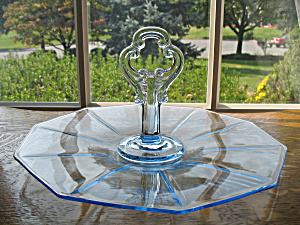 Cambridge Moonlight Blue Decagon Center Handled Tray