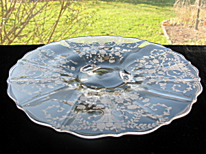 Cambridge Glass Portia Footed Cake Plate