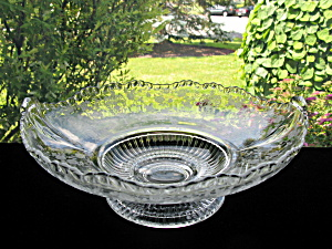 "Cambridge 3500 Rose Point 12"" Footed Bowl"