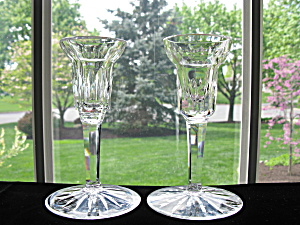 Waterford Crystal Tall Candleholders/Sticks - Pair (Image1)