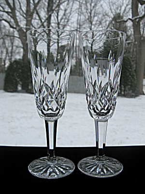 Waterford Crystal Lismore Flutes - Pair