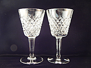 Waterford Crystal Alana White Wine Goblets - Pair