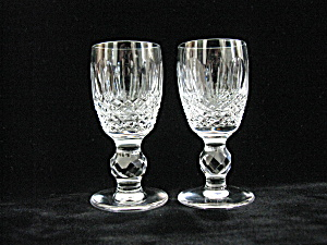 Waterford Crystal Colleen Footed Cordial Stems - Pair