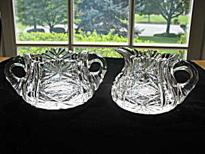 Brilliant Cut Glass Creamer & Sugar