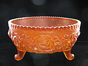 Imperial Carnival OPEN ROSE Footed Rose Bowl (Image1)