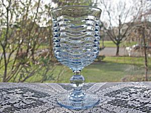 Duncan & Miller Blue Caribbean Water Goblet w/Ball Stem (Image1)