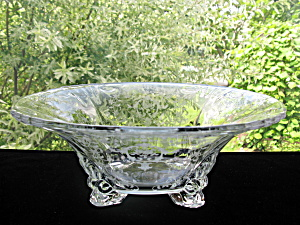 Fostoria Navarre Etched #2470 1/2 Centerpiece Bowl