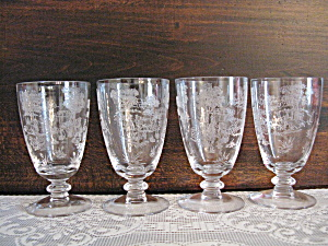 Fostoria Plymouth Etched Juice Tumblers - 4 (Image1)
