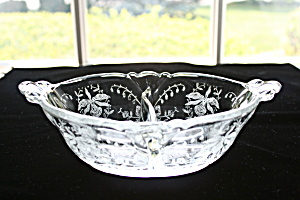 Heisey Orchid Etched 2 Pt. Oval Dressing Bowl (Image1)