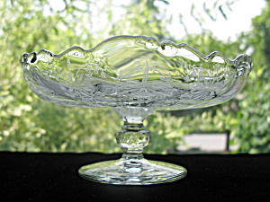 Heisey Orchid Etched Footed Compote